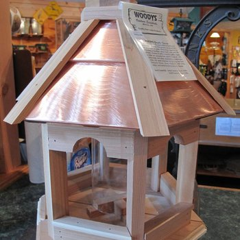 -WOODY'S PLAIN COPPER TOP GAZEBO BIRD FEEDER