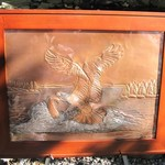"- GREG HENTZI FRAMED COPPER ETCHING ""THE CATCH"""