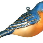 - COBANE BLUEBIRD GLASS ORNAMENT