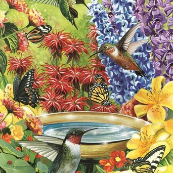 - COBBLE HILL HUMMINGBIRD GARDEN PUZZLE 500PC