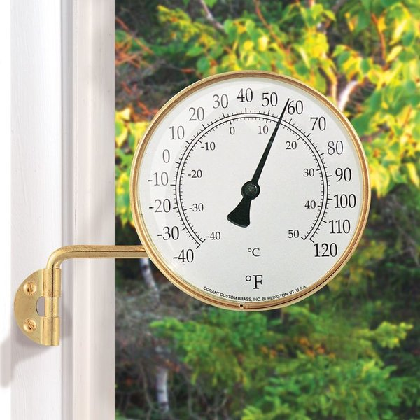 - CONANT BRASS VERMONT DIAL THERMOMETER 4.25""