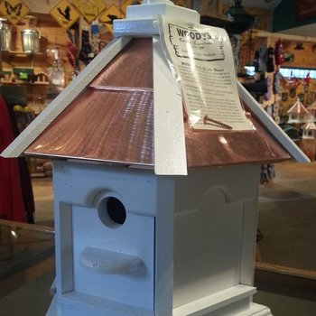 -WOODY'S HALF GAZEBO HOUSE PAINTED