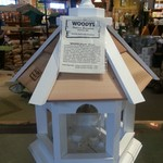 -WOODY'S SM. PAINTED PLAIN TOP GAZEBO BIRD FEEDER