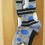 FOR BARE FEET SOCKS PENGUINS WITH BUBBLES MEDIUM