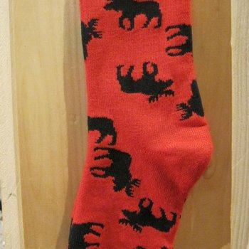 FOR BARE FEET SOCKS MOOSIN AROUND ORANGE MEDIUM