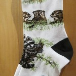 FOR BARE FEET SOCKS WOOD-LAND CREATURES MEDIUM