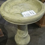 - MASSARELLIS STONE ONE PIECE ROUND VINE BIRD BATH