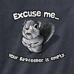 - EARTH SUN MOON EXCUSE ME SQUIRREL TSHIRT