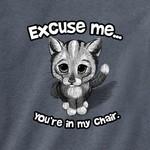 - EARTH SUN MOON EXCUSE ME CAT TSHIRT INDIGO