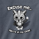 - ESM EXCUSE ME CAT TSHIRT INDIGO