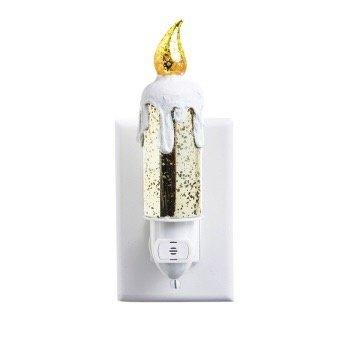 - EVERGREEN MERCURY GLASS CANDLE NIGHT LIGHT