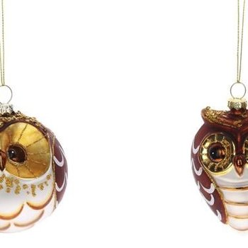 glass owl christmas ornaments