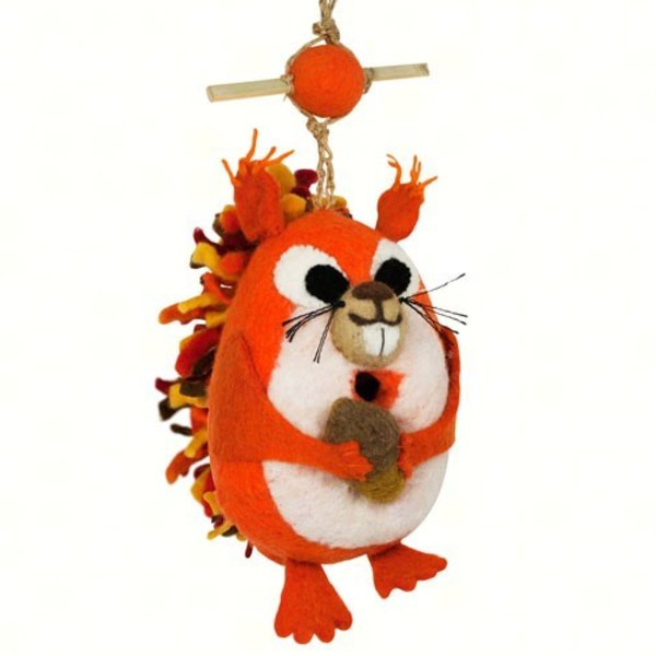 - DZI NUTTY SQUIRREL FELTED BIRDHOUSE