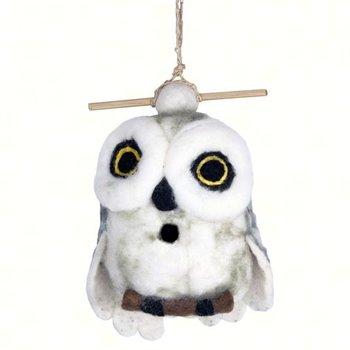 - DZI SNOWY OWL FELTED BIRDHOUSE