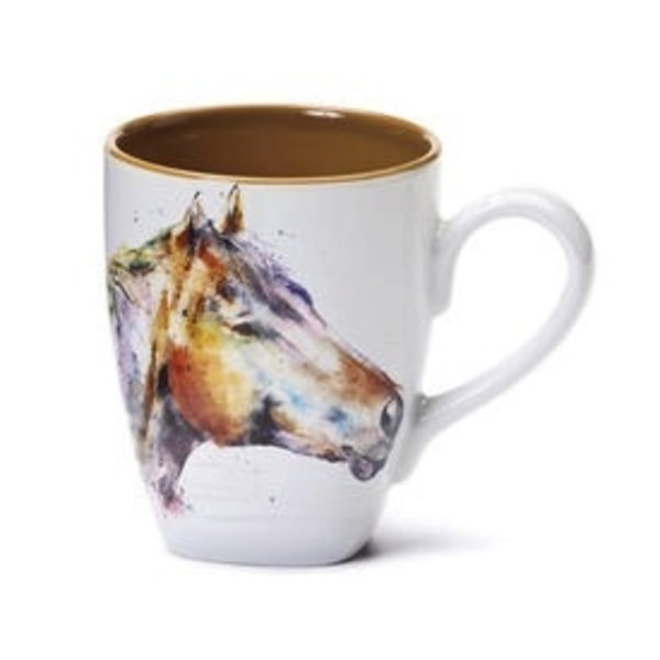 - DEMDACO HORSE HEAD COFFEE MUG 16OZ