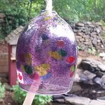 - KITRAS ART GLASS CALICO BELL PURPLE 4""