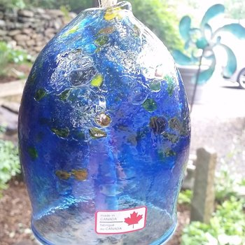 - KITRAS ART GLASS CALICO BELL BLUE 8""