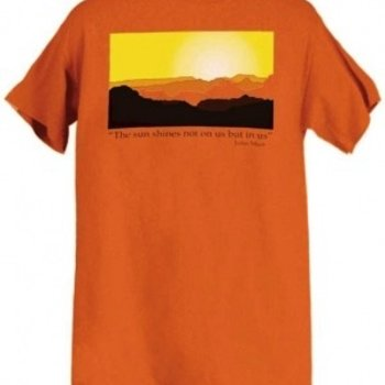 - LIBERTY GRAPHICS MUIR SUN TSHIRT BURNT ORANGE