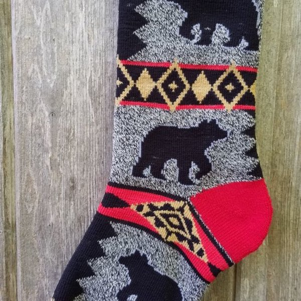 FOR BARE FEET SOCKS BEAR BLANKET MOTIF MEDIUM
