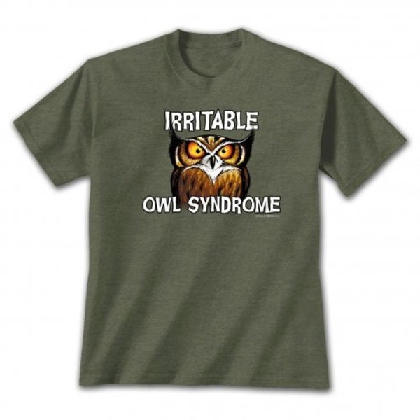 - EARTH SUN MOON IRRITABLE OWL SYNDROME TSHIRT