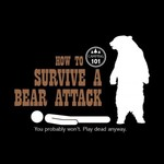 - EARTH SUN MOON SURVIVE BEAR ATTACK TSHIRT