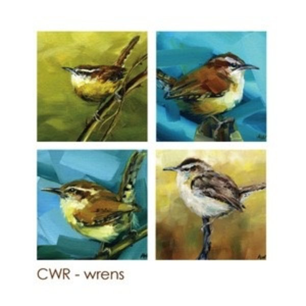 - ART BY ALYSSA COASTERS SET  WRENS