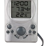 - ACCURITE DIGITAL INSIDE/OUT THERMOMETER  W/HUMIDITY AND CLOCK