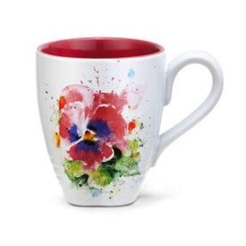 - DEMDACO PANSY COFFEE MUG  16OZ