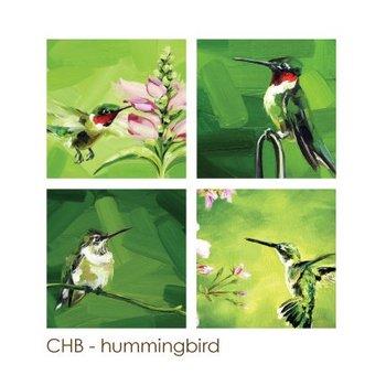- ART BY ALYSSA COASTERS SET  HUMMINGBIRDS