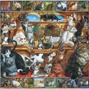 - WHITE MOUNTAIN WORLD OF CATS PUZZLE 1000PC