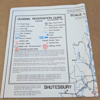 QUABBIN RESERVATION MAP