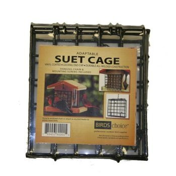 - BIRDS CHOICE SUET CAGE W/SCREWS AND CHAIN