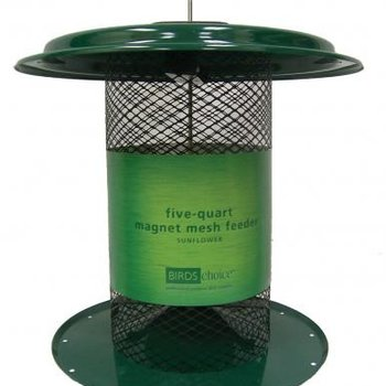 - BIRDS CHOICE 5QT. MESH SUNFLOWER FEEDER GREEN