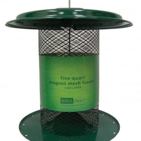 - BIRDS CHOICE 5QT. MESH SUNFLOWER FEEDER GREEN