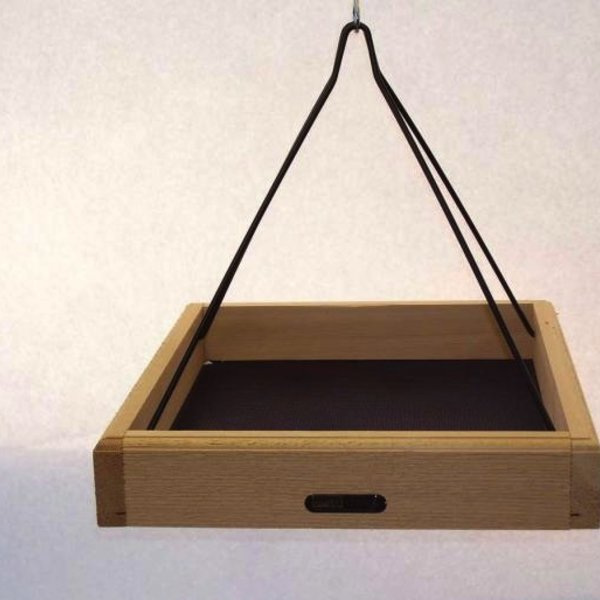 "- BIRDS CHOICE NATURAL 17""X14"" CEDAR HANGING TRAY FEEDER"