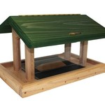 - BIRDS CHOICE CEDAR 6QT. 4-SIDED HOPPER FEEDER GREEN ROOF