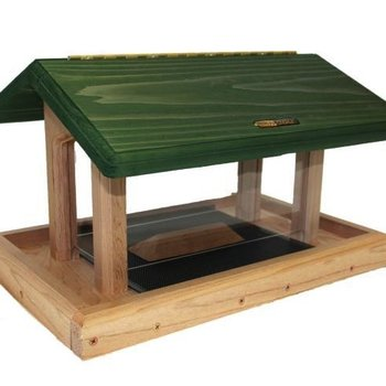 - BIRDS CHOICE CEDAR 6QT. 4-SIDED HOPPER FEEDER