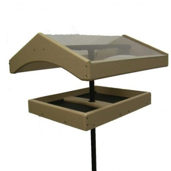 "- BIRDS CHOICE RECYCLED POLE MOUNT WEATHER TOPPER 1"" FLANGE INCLUDED"