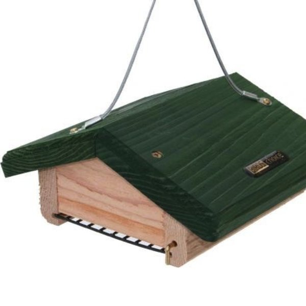 - BIRDS CHOICE CEDAR UPSIDE DOWN SINGLE SUET FEEDER GREEN ROOF