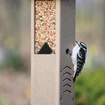 - BIRDS CHOICE RECYCLED SPLIT PEANUT WOODPECKER FEEDER