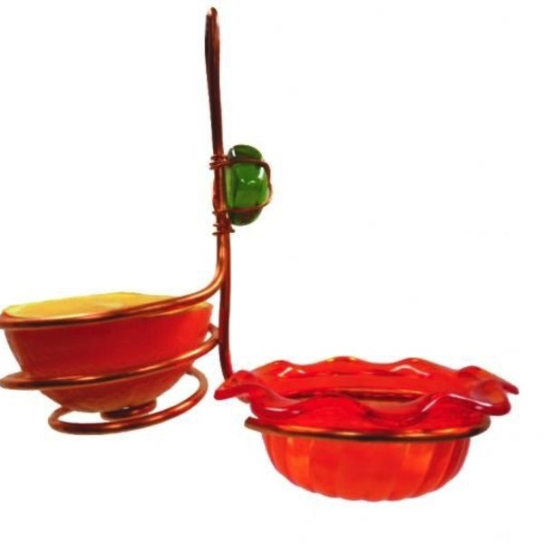 - BIRDS CHOICE SINGLE CUP/FRUIT COPPER ORIOLE FEEDER