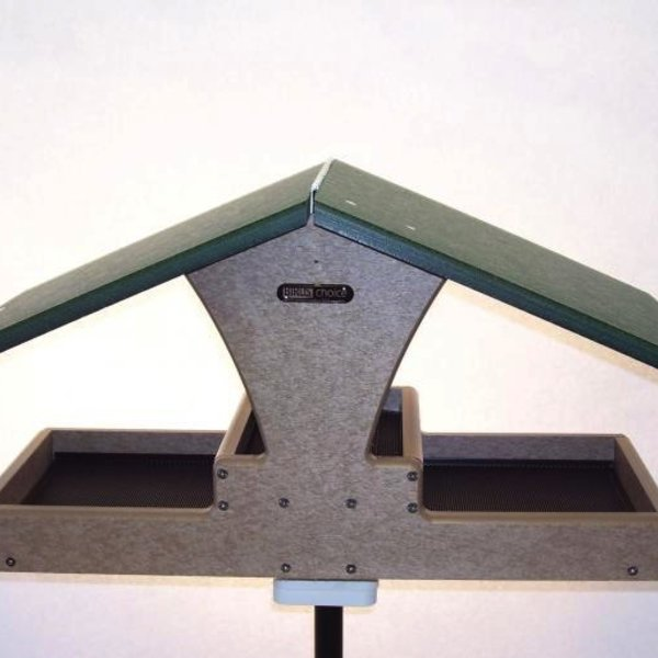 - BIRDS CHOICE RECYCLED DOUBLE DECKER HOPPER PLATFORM FEEEDER