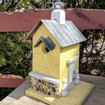 - NATURE CREATIONS RUSTIC WREN HOUSE W/TIN ROOF