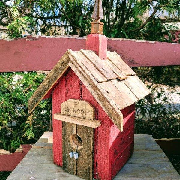 - NATURE CREATIONS RUSTIC SCHOOL WREN HOUSE