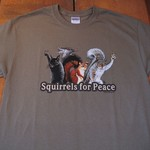 - EARTH SUN MOON SQUIRRELS FOR PEACE T-SHIRT (DISCONTINUED)