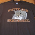 - EARTH SUN MOON NUTTY OLD SQUIRREL TSHIRT DISCONTINUED