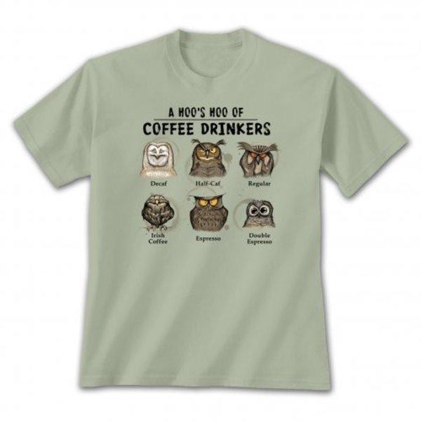 - EARTH SUN MOON HOOS HOO COFFEE DRINKERS TSHIRT