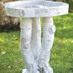 - MASSARELLIS STONE BIRCH BIRD BATH 2PC.