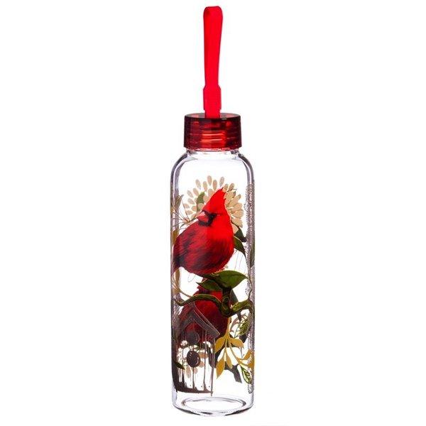- EVERGREEN CARDINALS GLASS WATER BOTTLE