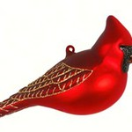 - COBANE NORTHERN CARDINAL GLASS ORNAMENT